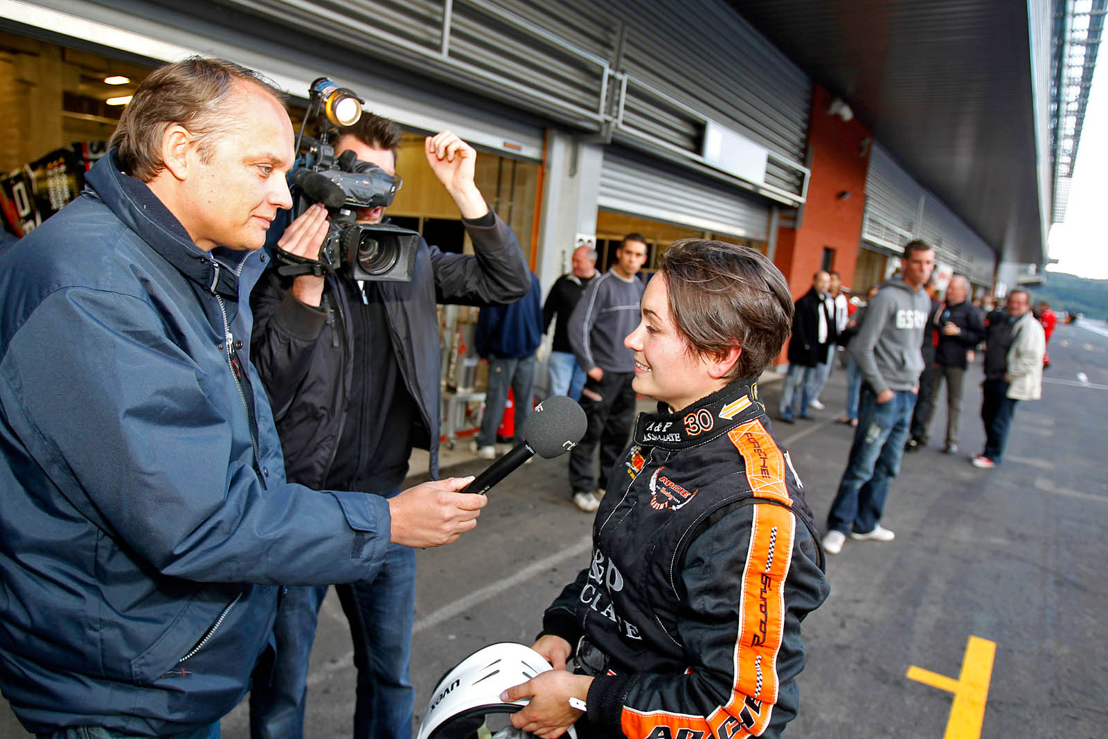 Repso Fun Cup 15  Francorchamps Julie De Vuyst TV-Interview RTBF (©Foto Ch Fischer)